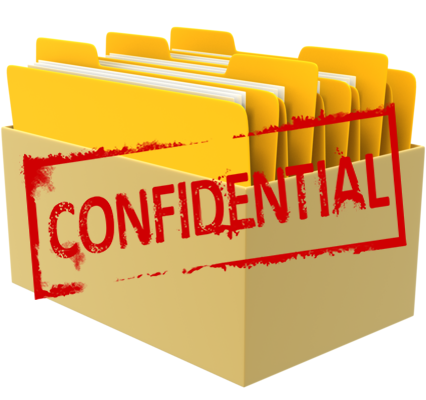 Confidential Box of Files